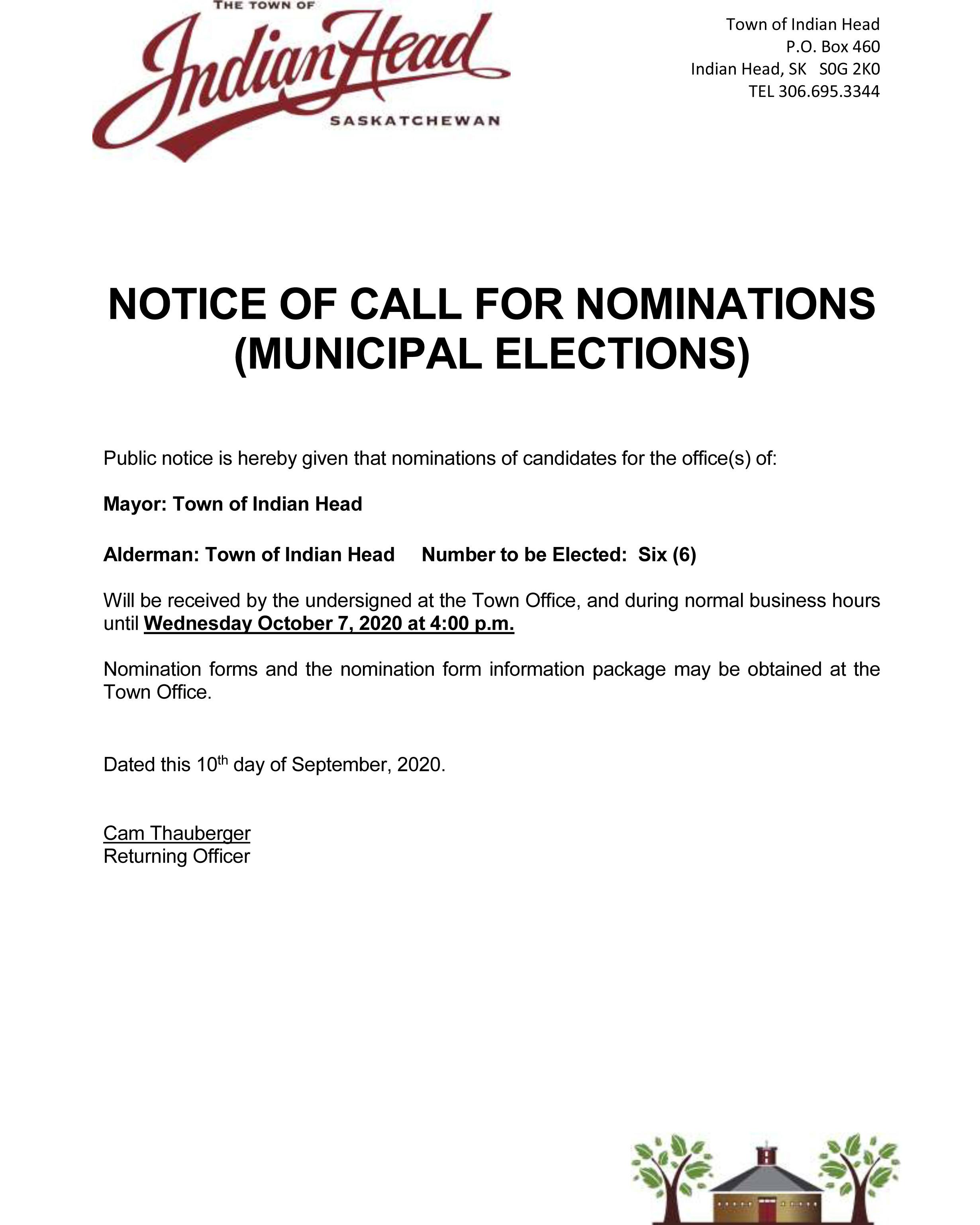 PUBLIC NOTICE Call for Nominations 2020